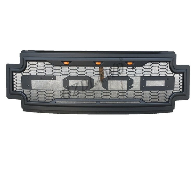2019 Ford F250 Super Duty Raptor Grill Mesh With Amber Lights  / Truck Accessories