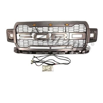 Led Lights Abs Front Grill Mesh For Ford f150 2018 2019 Pickup Offload