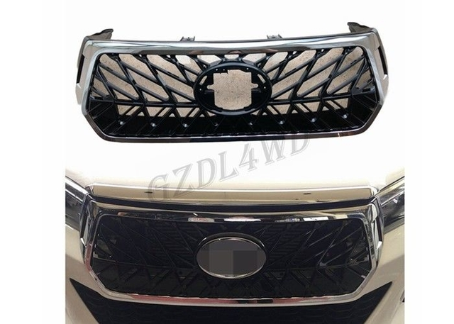 4x4 Plastic Front Grill Mesh For Toyota Hilux Revo Rocco 2018