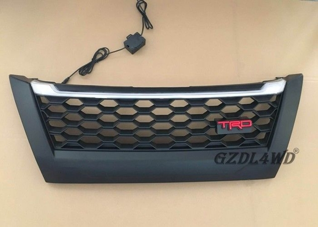 Matte Black TRD Front Grill With LED Lights For Toyota Fortuner 2018 / Fortuner Accessories