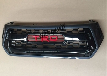 Black Front Grill Mesh With TRD Logo , Revo Rocco 2018 Toyota Hilux Chrome Grill