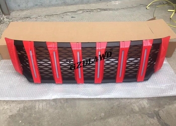 Red Front Grill Mesh With LED Lights For Nissan NP300 4x4 Body Kits
