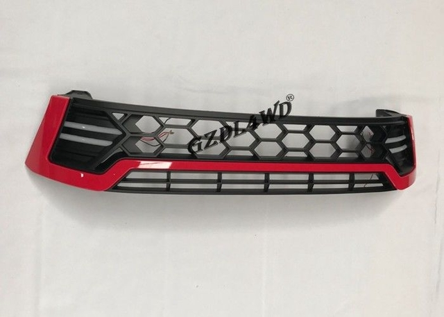 Red LED Front Car Grill Mesh For Toyota Hilux Revo / Auto Accessories