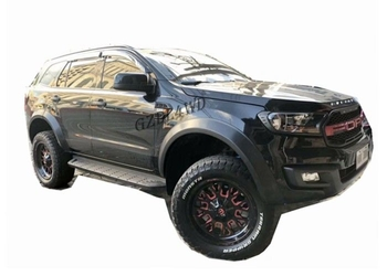 OEM 2016 2019 Ford Everest Slim Wheel Arch Flare Smooth Black