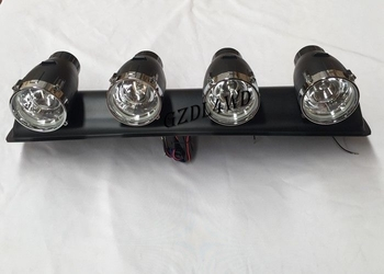 55W 12V 4x4 Driving Lights ,  ABS Plastic Jeep Light Bar With 4 Spotlight Bulbs